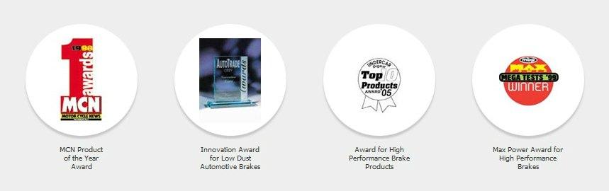 Nagrody zdobyte przez firmę EBC Brakes